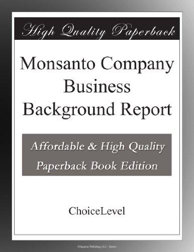 monsanto-company-business-background-report