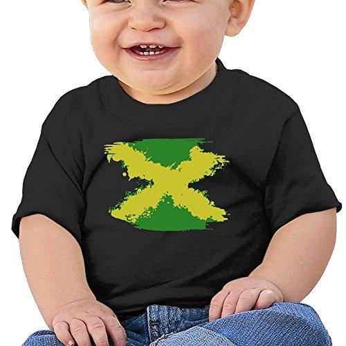 YUEskd Splashing Jamaican Flag Baby Boys Girls Summer Short Sleeve Crewneck T-Shirt for 6-24 Month Tops