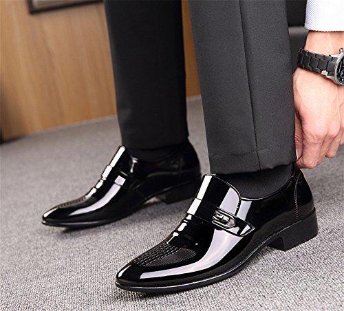 xie Brillant chaussures en cuir pour hommes hommes d'affaires de pied chaussures en cuir pointu respirant grande taille hommes chaussures chaussures respirant chaussures 38-44 black SnSlrwrf