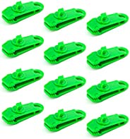 LUTER 12 PCS Tarp Clips Awning Clamp Set Tent Clip Locking Clamp Design for Tents, Couch Cover, Tarp, Boat Cov