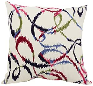 Pillow Perfect Swivel Decorative Square Toss Pillow, 16-1/2-Inch, Multicolored