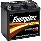 Energizer ET16 AGM Motorcycle and Personal Water Craft 12V Battery, 260 Cold Cranking Amps and 19 Ahr.  Replaces: T16 and others