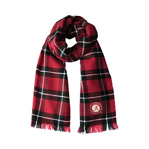Littlearth NCAA Alabama Crimson Tide Plaid Blanket Scarf
