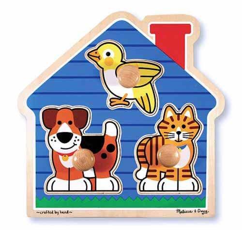 Melissa-Doug-House-Pets-Jumbo-Knob-Puzzle-2055-New-Sealed