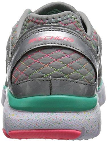 Skechers Kids S-Flex-Fashion Play Sneaker (Little Kid/Big Kid) Gray/Multi