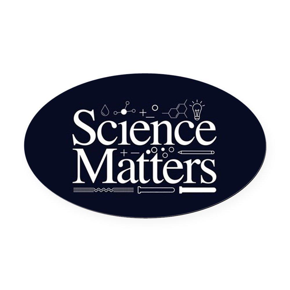 CafePress – Science Matters – 楕円形カーマグネット、ユーロオーバル磁気バンパーステッカー Large - 4.5x7.5 0026405644BD005 B073WHW995   Large  4.5x7.5