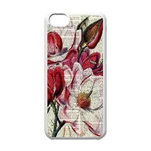 Vintage Flower Watercolor Classic Personalized Phone Case for Iphone 5C,custom cover case ygtg586822