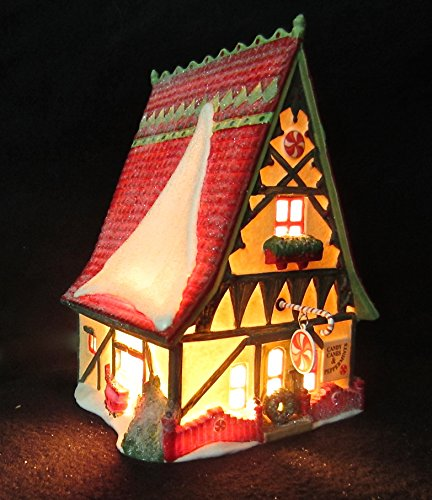 (Dept 56 Heritage Village The North Pole Series #56390 Candy Cane & Peppermint Shop)
