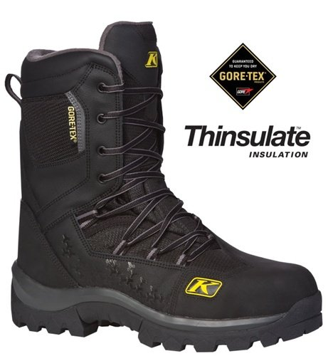 Klim Adrenaline GTX Men's Snocross Snowmobile Boots - Black/Size 6