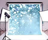 Yeele 5x7ft Photography Backdrop Glitter Blue White Spots Vinyl Background Personal Portrait Studio Props