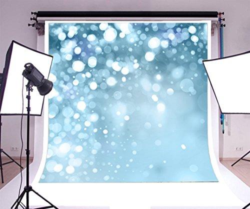 Yeele 5x7ft Photography Backdrop Glitter Blue White Spots Vinyl Background Personal Portrait Studio Props by Yeele
