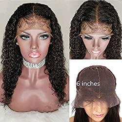 Fennell 13x6 Deep Part Lace Front Wig 150% Desnity Brazilian Human Hair Natural Color Deep Wave Pre-Plucked Hairline With Baby Hair Wigs For Women (Lace front wig 16 inches)