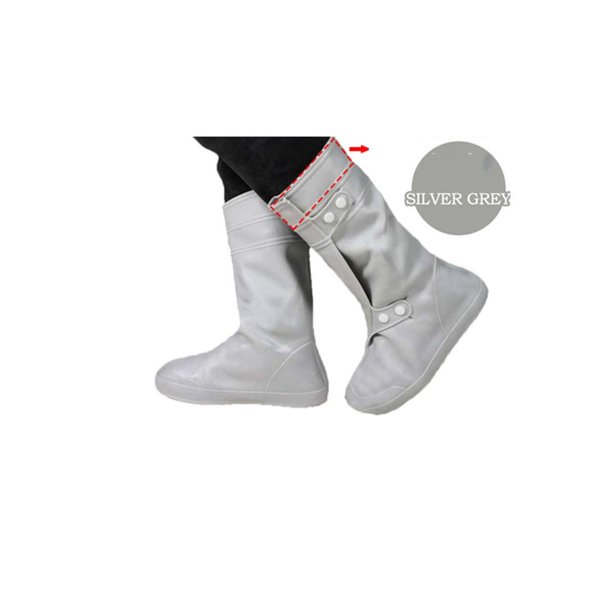 WUHUIZHENJINGXIAOBU Shoe Cover, Rain Shoe Cover, High Tube Wear Rubber Outdoor Motorcycle Rain Men and Women Non-Slip Foot Cover, More Colors Shoe Covers That can be Worn on Rainy Days,