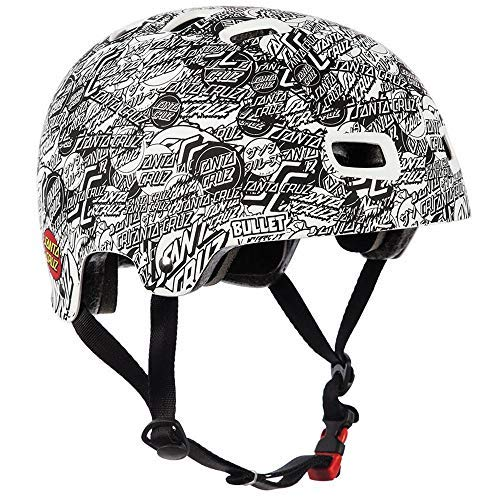 Bullet O.G.S.C. All Over Skateboard Helmet - White (Small/Medium) ()