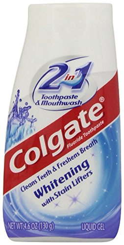 Colgate 2-in-1 Whitening Toothpaste Gel - 4.6 ounce (Best Way To Get Rid Of Cavities At Home)