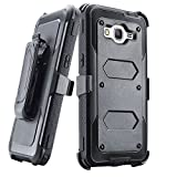 Grand prime Case,Galaxy G530 Case,LUOLNH Heavy Duty Shockproof Durable Full Body Protection Rigged Hybrid Case with belt clip holster and Kickstand for Samsung Grand Prime G530H/G5308W(Black)