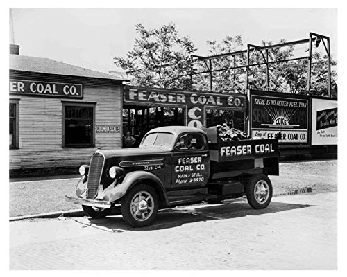 Truck Dump Coal (1938 Studebaker K15 Coal Dump Truck Photo Poster)