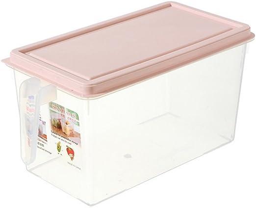 Creative sellado cajón nevera caja de almacenamiento de alimentos comida cocina con asa y tapa gran capacidad fresh-keeping caja portátil caja de almacenamiento de plástico para frigorífico del cajón: Amazon.es: Hogar