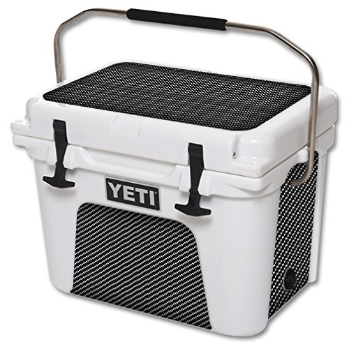 MightySkins Protective Vinyl Skin Decal for YETI Roadie 20 qt Cooler wrap cover sticker skins Carbon Fiber
