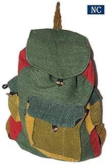 0bcb21f02fd2 Pure Hemp Rasta Stripe Shoulder Backpack - Fashion Cute Travel School  College Shoulder Bag