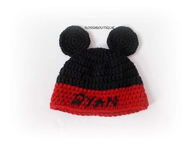 7fee4b7d13b6c Amazon.com: Personalized Моusе baby boy kids hat: Handmade