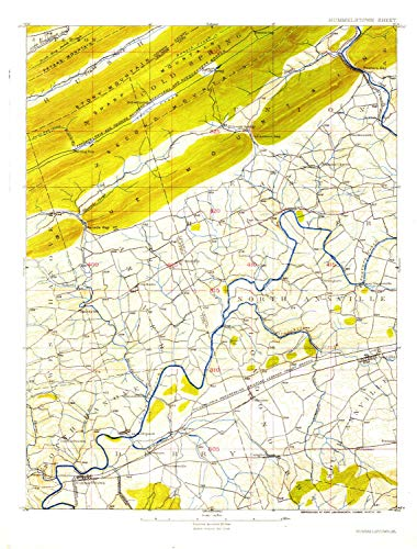YellowMaps Hummelstown PA topo map, 1:62500 Scale, 15 X 15 Minute, Historical, 1924, 19.9 x 15.1 in - Polypropylene ()