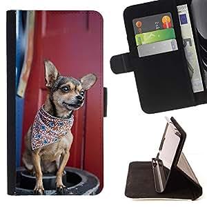 Momo Phone Case / Flip Funda de Cuero Case Cover - Enfriar Bandana Chiuauah Hipster - LG Nexus 5 D820 D821