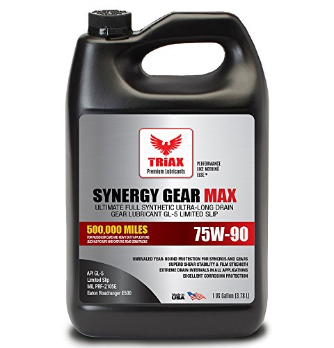 - Triax Synergy Gear MAX 75W90 GL-5 Limited Slip - Ultra Long Drain 500k Miles. Manual Transmission, Gear/Differential Lubricant. (1 Gallon)