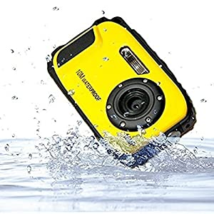 PowerLead PLDH10 2.7 Inch LCD Cameras16 MP Digital Camera Underwater 10m Waterproof Camera+ 8x Zoom