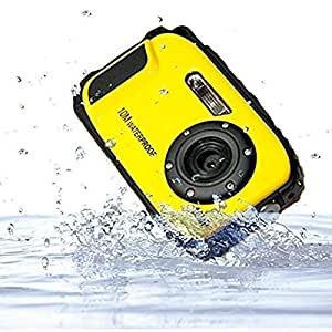 GordVE KG003 2.7 Inch LCD Cameras 16MP Digital Camera Underwater 10m Waterproof Camera+ 8x Zoom--Yellow