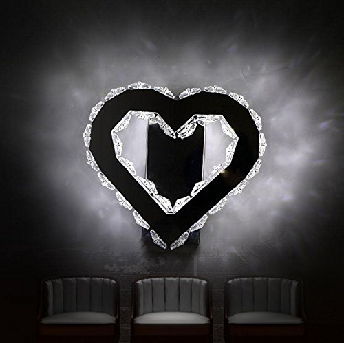 Leihongthebox Wall Sconce Industrial Edison retro style Wall lamp heart-shaped LED stainless steel wall lamp crystal lamp (Oil Rubbed Bronze)