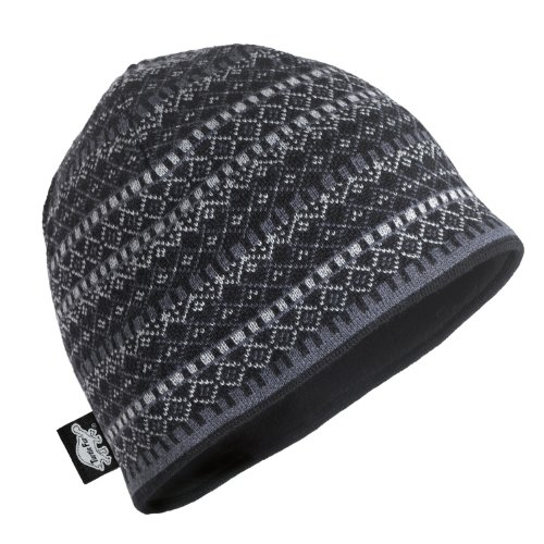Turtle Fur Merino Franz Beanie, Black, One (Fur Headwear)