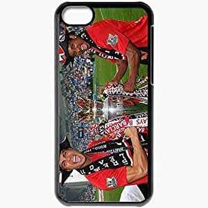 Personalized iPhone 5C Cell phone Case/Cover Skin Cxfg portugal football federation cristiano ronaldo manchester united real madrid Black