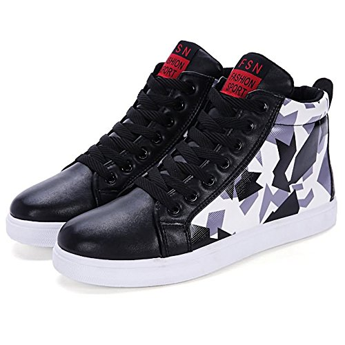 Tendencia para Moda Color Zapatos Camuflaje Casual Hombres Negro Zapatillas Estilo Ayuda Nuevo Alta Deportivos Personalidad de Color Pw5xEHq7