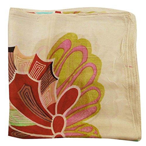 Modedesigner Schal und 40Zoll Quadratischer Seidenschal Schals Beige Floral Bandana bedruckt Sommer Gr WD29EHI