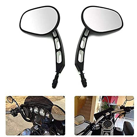 Motobiker 1 Pair Side Mirrors for Road King Sportster Street Electra Glide Dyna Softail Road Glide Motorcycle Rearview 1982-2019 Chrome
