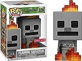 minecraft skeleton head - Minecraft Flaming Skeleton Exclusive Funko Pop