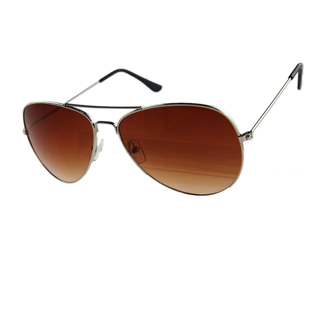 LUFA Lunettes de soleil réfléchissant Objectif Métal + résine UV400 SilverFreen & SilverLens1# y8bNu