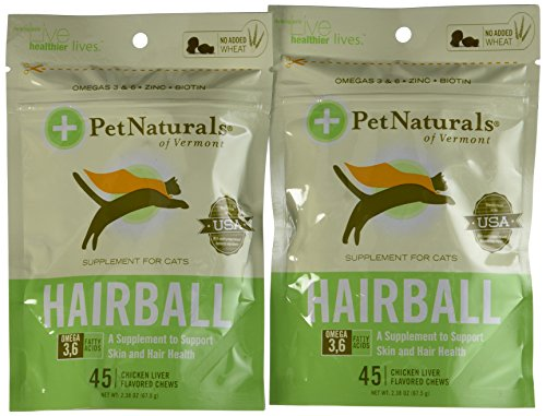 Pet Naturals of Vermont 6-Pack Hairball Chews for Cats Plus Free Calming Chews