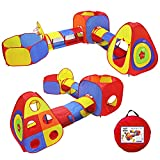 Yoobe 5pc Kids Play Tents Jungle Gym w/ Pop Up Tents, Tunnels, and Basketball Pit for Boys, Girls, Babies, and Toddlers with Carrying Case for Indoor & Outdoor Use