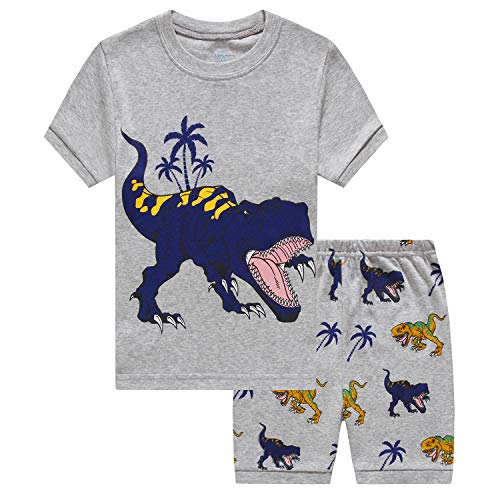 Popshion Baby Boys Summer Clothes Short Sleeve T-Shirts Shorts Set 2pcs Dinosaur Toddler Outfits Clothing ()