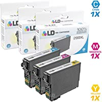 LD Remanufactured Ink Cartridge Replacements for Epson 288XL High Yield (1 Cyan, 1 Magenta, 1 Yellow, 3-Pack)