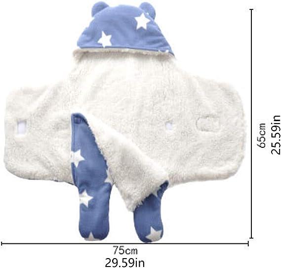 Super Soft Couverture en peluche les nourrissons 0-8M chauds emmailloter r/éception Wrap B/éb/é Swaddle Blanket id/éal b/éb/é et accessoires du nouveau-n/é Registre,couverture parfaite b/éb/é douche