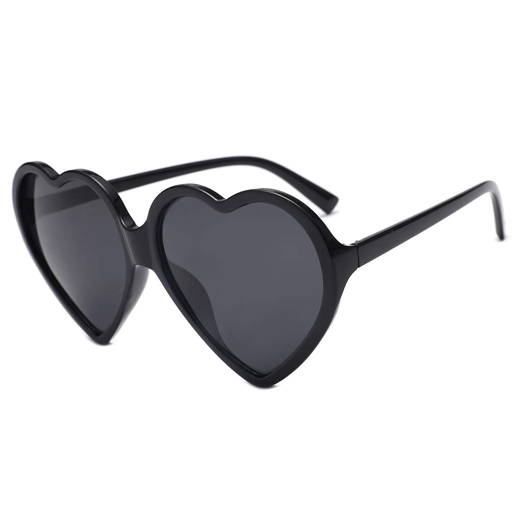 a9223a81147 Amazon.com  SODIAL 90S Vintage Glasses Fashion Large Women Lady Girls  Oversized Heart Shaped Retro Sunglasses Cute Love Eyewear(Black)  Sports    Outdoors
