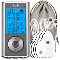 CUH Rechargeable TENS Unit 8 Modes Portable Electronic Pulse Massager for Pain Relief