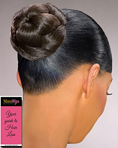 Dome F Hairpiece Color 4 Med Dark Brown - Foxy Silver Wigs Formal Classy Braided Chignon Bun Updo Synthetic African American Womens Lightweight Bundle w/MaxWigs Hairloss Booklet