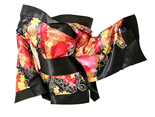 [Marshel Cosplay Japanese Kimono Costume Fancy Dress AX-JP-012 Black] (Sexy Halloween Costumes Canada)