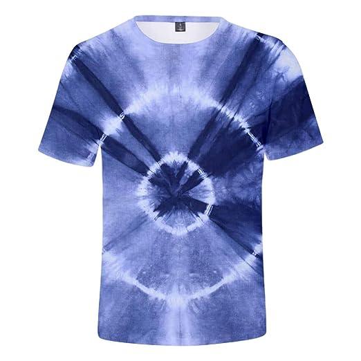 INSTO Camiseta Creativo Corbata Colorante Impreso Camiseta Aptitud ...