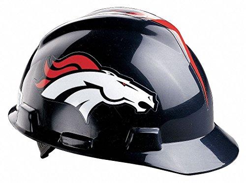 V-Gard Denver Broncos Front Brim NFL Hard Hat, Size: One Size Fits Most