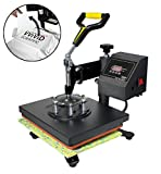 "VViViD 12"" x 10"" Electronic Pressure Sensitive Sublimation Heat Press Garment Machine w/Digital"